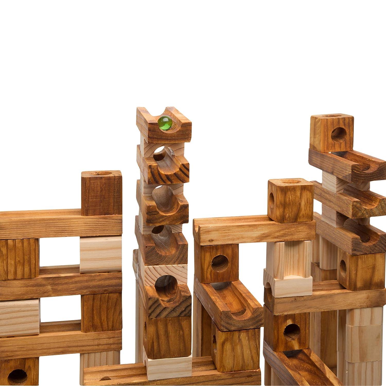 Ideal Amaze N Marbles 105 Piece Classic Wood Construction Set 4105MBL