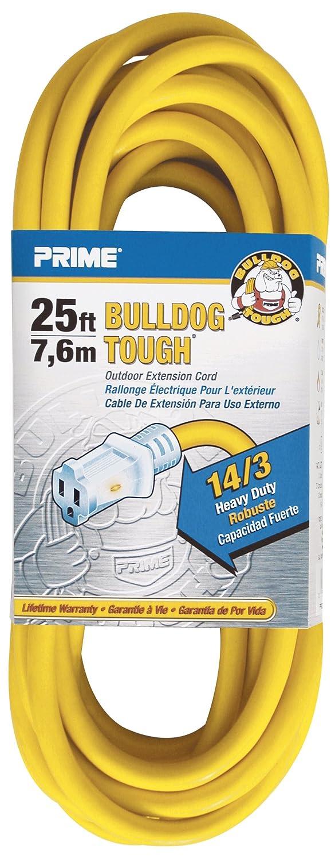 Prime Wire & Cable LT511725 25-Foot 14/3 SJTOW Bulldog Tough ...