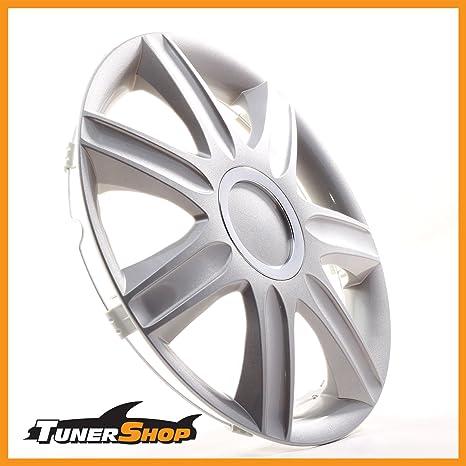 16 Pulgadas Tapacubos Tapacubos Tapacubos Toyota Llantas de Acero # 2432425 Plata con anillo cromado Invierno