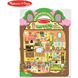 Melissa & Doug Puffy Sticker Activity Book: Chipmunk House - Safari
