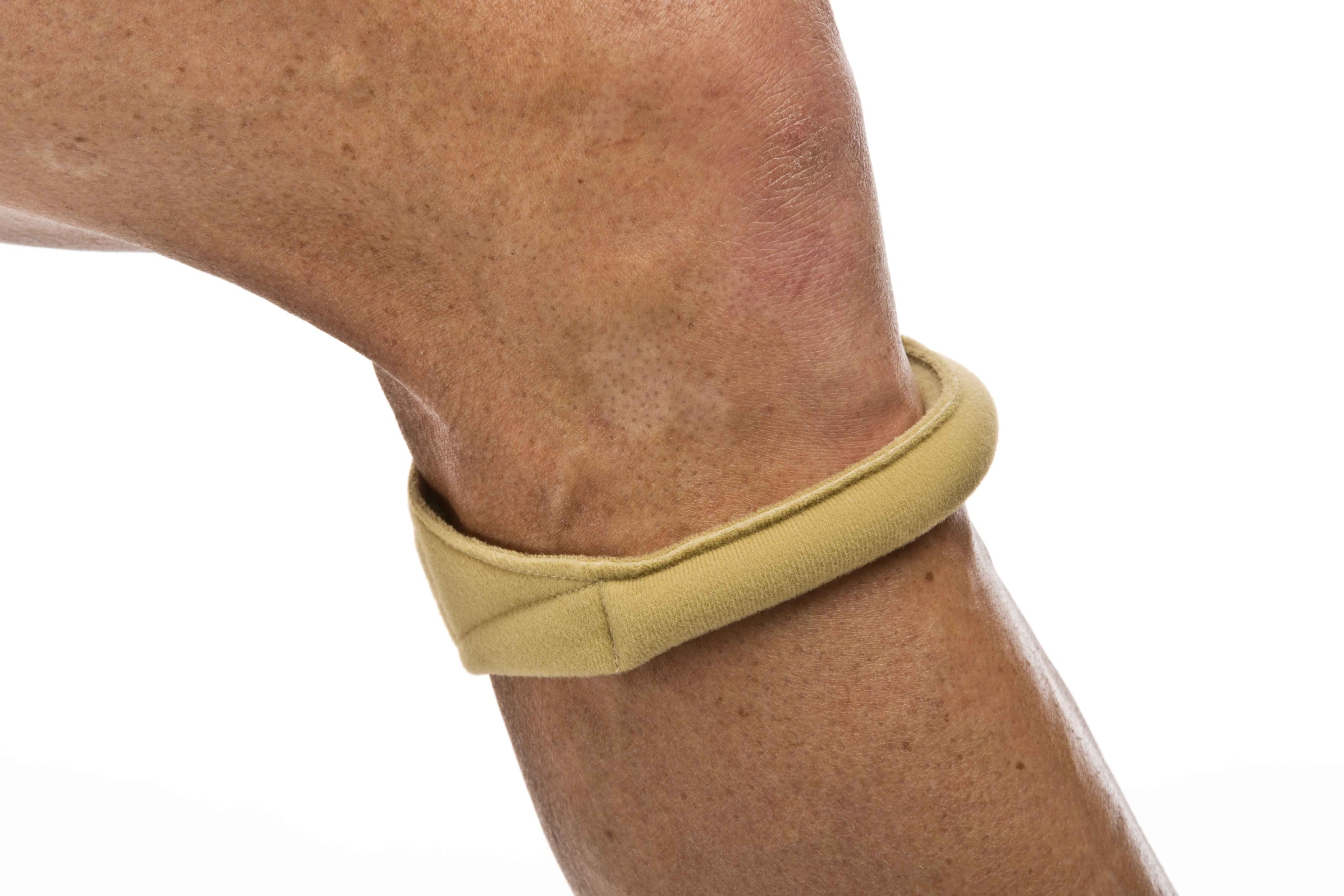Cho-Pat Original Knee Strap - Recommended by Doctors to Reduce Knee Pain from Arthritis and Running - Tan (XS, Less than 10'')