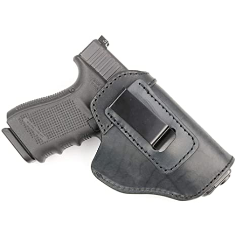 ComfortTac The Protector Leather IWB Holster for Glock 19, 23, 26, 27, 29,  30, 30S, 32, 33, 36, 38, 39, 43, 43X | S&W M&P Shield | Springfield XD &