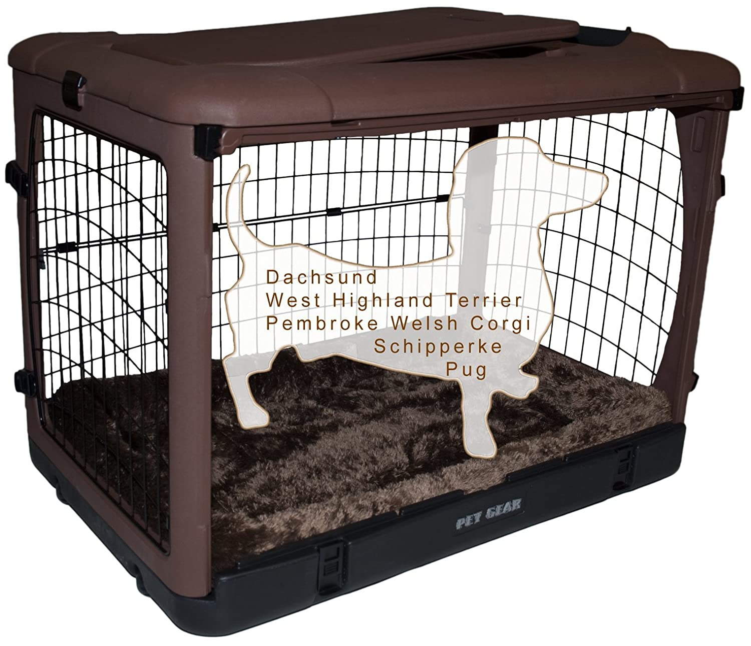 Amazon.com : Pet Gear The Other Door Steel Crate With Fleece Pad For Cats  And Dogs Up To 70 Pound, Sage : Pet Supplies