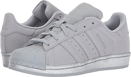 adidas Originals Kids Unisex Superstar (Big Kid) Clonix/Clonix/Silver 5 M