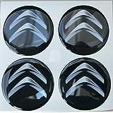 Adhesivos de resina para tapacubos, color negro, efecto resinado 3D, calidad 3M,