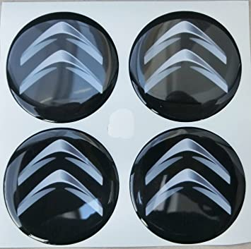 Adhesivos de resina para tapacubos, color negro, efecto resinado 3D, calidad 3M, 4 unidades, para tuning, 60 mm: Amazon.es: Coche y moto