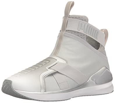 c681b4d4178c PUMA Women s Fierce Strap Metallic WN s Cross-Trainer Shoe Silver White