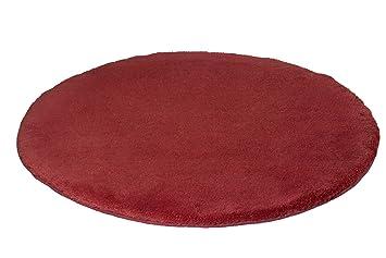 Kleine Wolke Relax Tapis De Bain Rond Rouge Tuile Cm - Carrelage salle de bain et tapis rond rouge 160