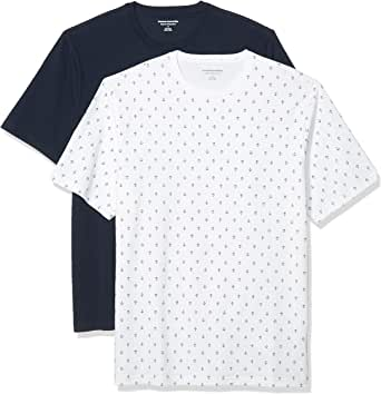 Amazon Essentials Men's 2-Pack Loose-Fit Short-Sleeve Crewneck T-Shirt
