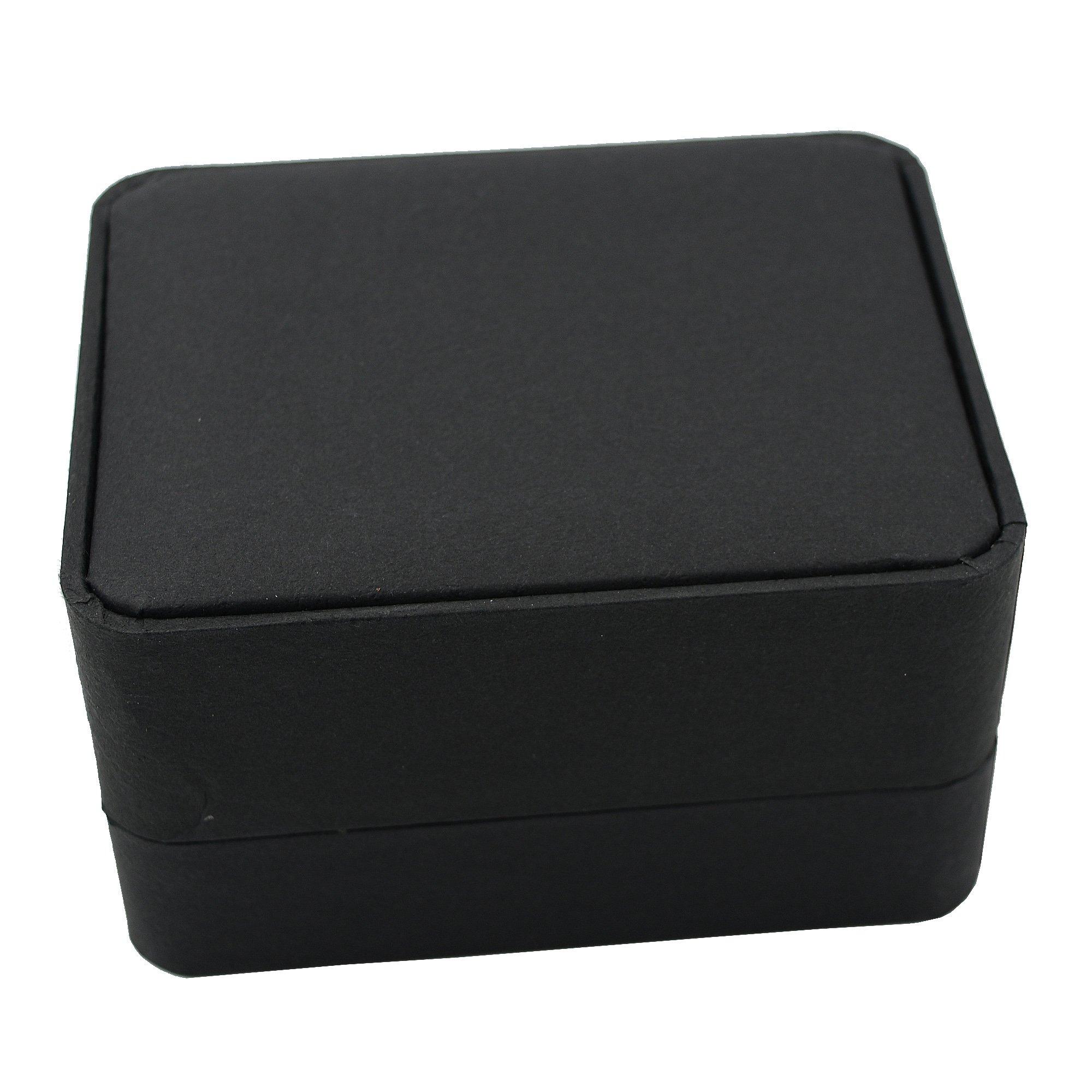 Timeconcept Gift Box Wedding Black Single Pocket Watch Present Bangle Storage Holder Case
