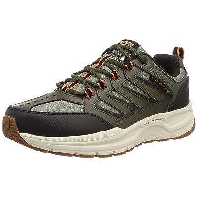 Skechers Men's Escape Plan 2.0 Oxford, Olive/Black, 14 M US: Shoes