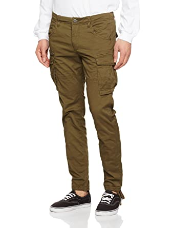 Mens Jjipaul Jjchop Ww Olive Night Noos Trousers Jack & Jones pyQWv8cu