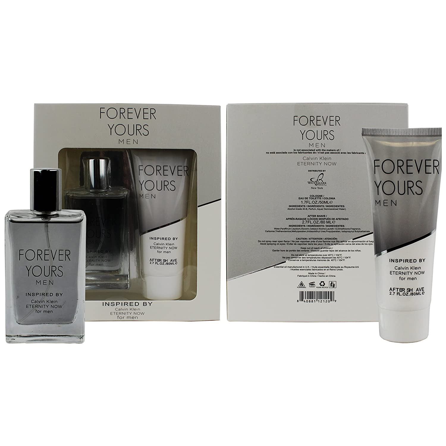 Amazon.com : Forever Yours 2 Piece Cologne Gift Set for Men Inspired by CK Eternity Now. EDT - 1.7 Fl Oz/50Ml, After Shave - 2.7 Fl Oz/80 Ml. : Beauty