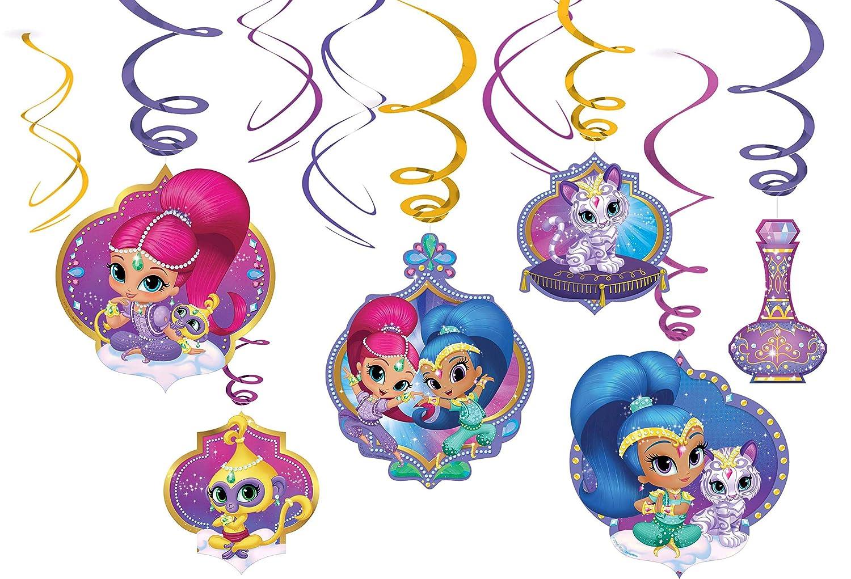 amscan pendientes Swirl Barcelona & producto oficial, Multicolor, 7am9902166