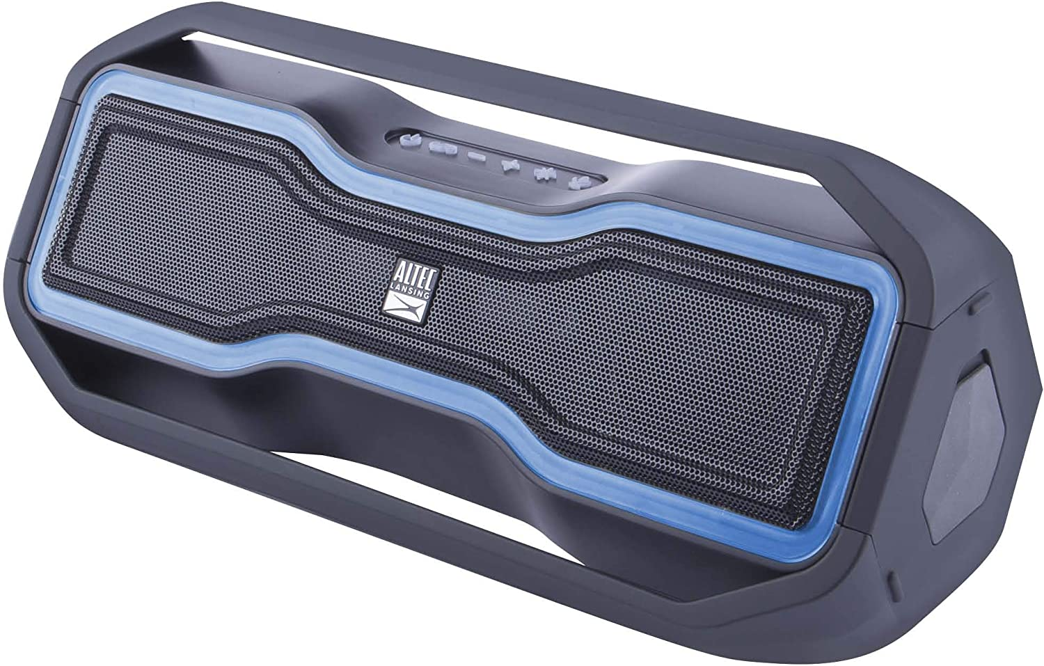 Altec Lansing RockBox - Waterproof, Wireless, Bluetooth Speaker, Floating, IP67, Portable Speaker, Strong Bass, Rich Stereo System, Microphone, 100 ft Range, Lightweight, 12-Hour Battery, LED Lights