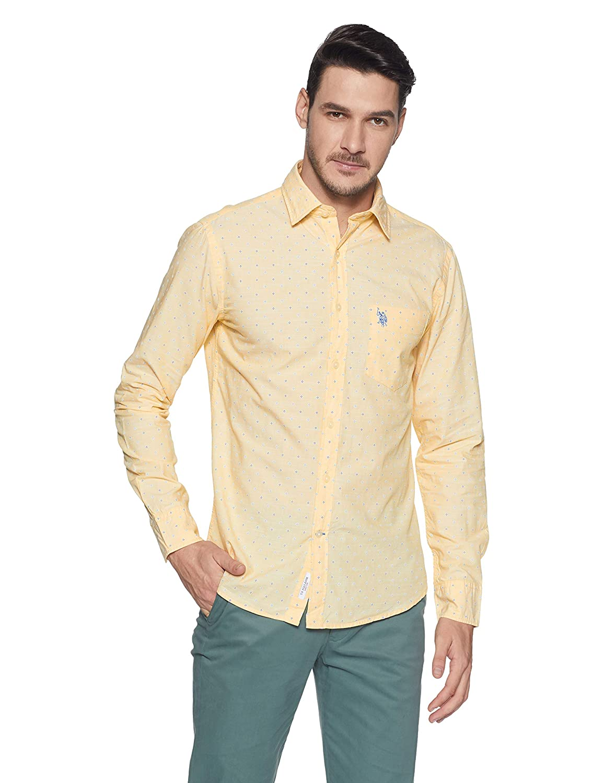 Us Polo Mens Printed Regular Fit Casual Shirt Amazon Clothing