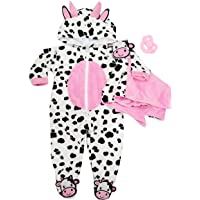 Charm Baby Reborn Baby Dolls Clothes for 20-22 inch Moo-Cow Plush Blanket Accessories Handmade Doll Clothes fit for…