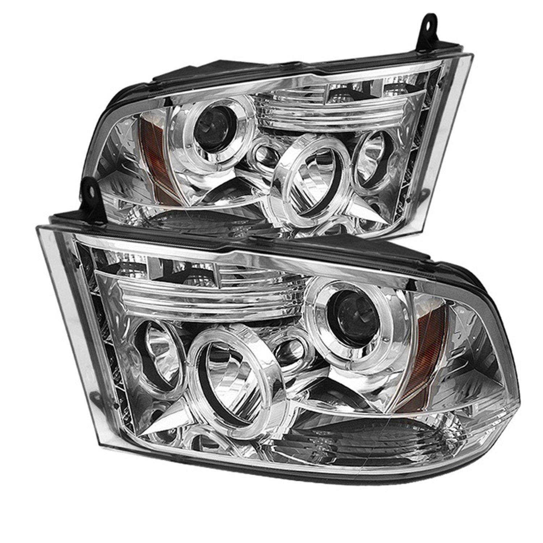 Spyder Auto Dodge Ram 1500//2500//3500 Black Halogen LED Projector Headlight