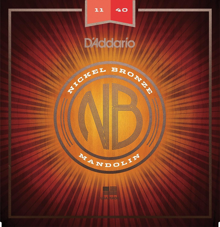 D'Addario NBM1038 Nickel Bronze Mandolin Strings, Light, 10-38 D'Addario