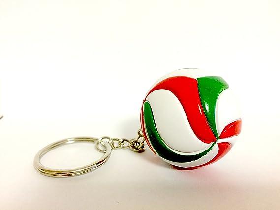 Bkstuff Llavero Voleibol Bola Verde Blanco y Rojo gadged Equipo Deportivo: Amazon.es: Juguetes y juegos