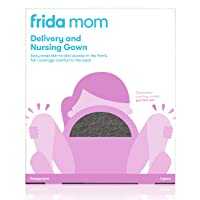 Frida Mom Delivery and Nursing Gown | Easy-Snap, Tagless, Skin-to-Skin Access for...