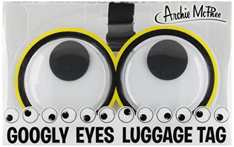 a6f0ec81bc74 Accoutrements Googly Eyes Luggage Tags