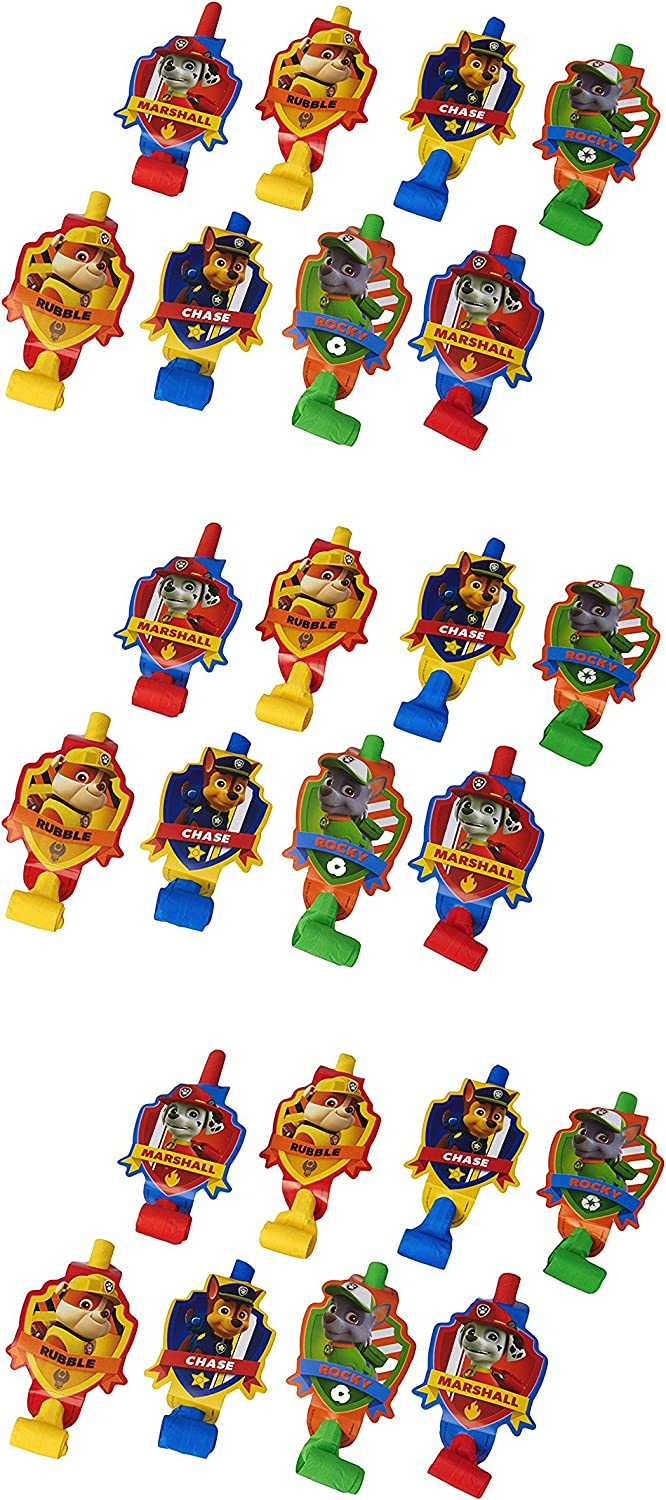Amscan Paw Patrol Birthday Party Blowers Pack Of 8