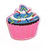 Nipitshop Patches Beautiful Pink Cupcake Colorful