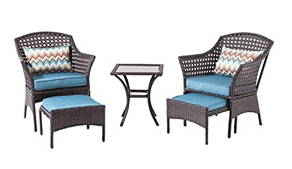 Excellent Amazon Com Backyard Classics Bainbridge 3 Piece Wicker Gmtry Best Dining Table And Chair Ideas Images Gmtryco