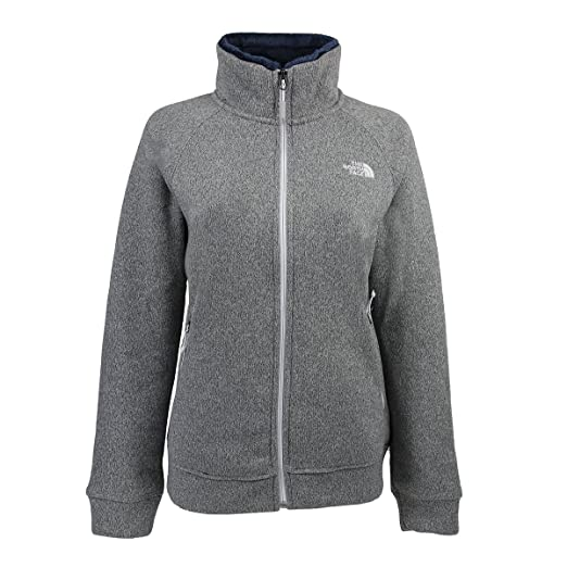 56a10eb58998 The North Face Crescent Raschel Full Zip Jacket Womens Lunar Ice Grey  Heather Small