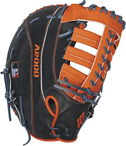 Wilson A2000 MC24 Miguel Cabrera Game Model 1st Base Baseball Glove, Navy Orange, Left Hand Thrower