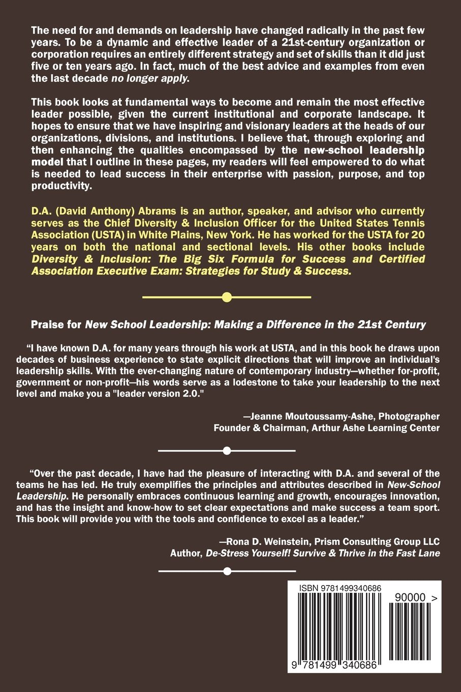 new school leadership making a difference in the st century new school leadership making a difference in the 21st century d a abrams 9781499340686 com books