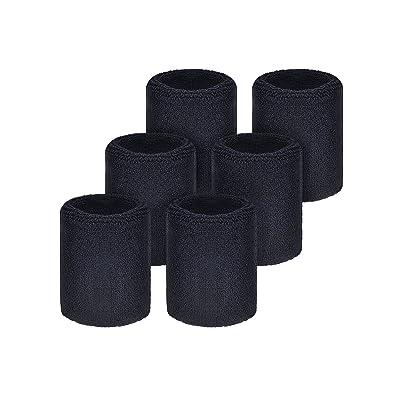 6 Pièces Serre-Poignets Bracelets Poignet pour Sports Sweatbands Absorbants pour le Foot-Ball Basket-Ball, Sport Athlétique Fonctionnement