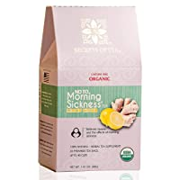 Morning Sickness Relief Lemon Ginger Tea - Pregnancy Tea for Constipation and Nausea Relief for Pregnant Women - Certified USDA Organic - Caffeine Free Tea - Up to 40 servings.