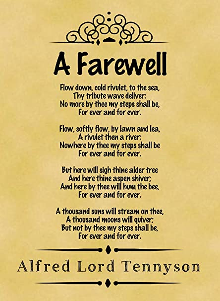 A4 Size Parchment Poster Classic Poem Alfred Lord Tennyson A