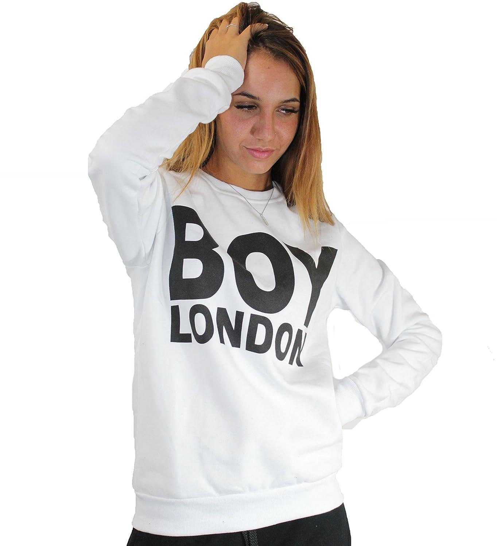 Boy London - Sudadera - Manga larga - para mujer blanco X-Large: Amazon.es: Ropa y accesorios