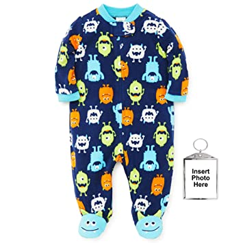 dec3b5b44d57 Amazon.com  Little Me Winter Fleece Baby Pajamas Footed Blanket ...