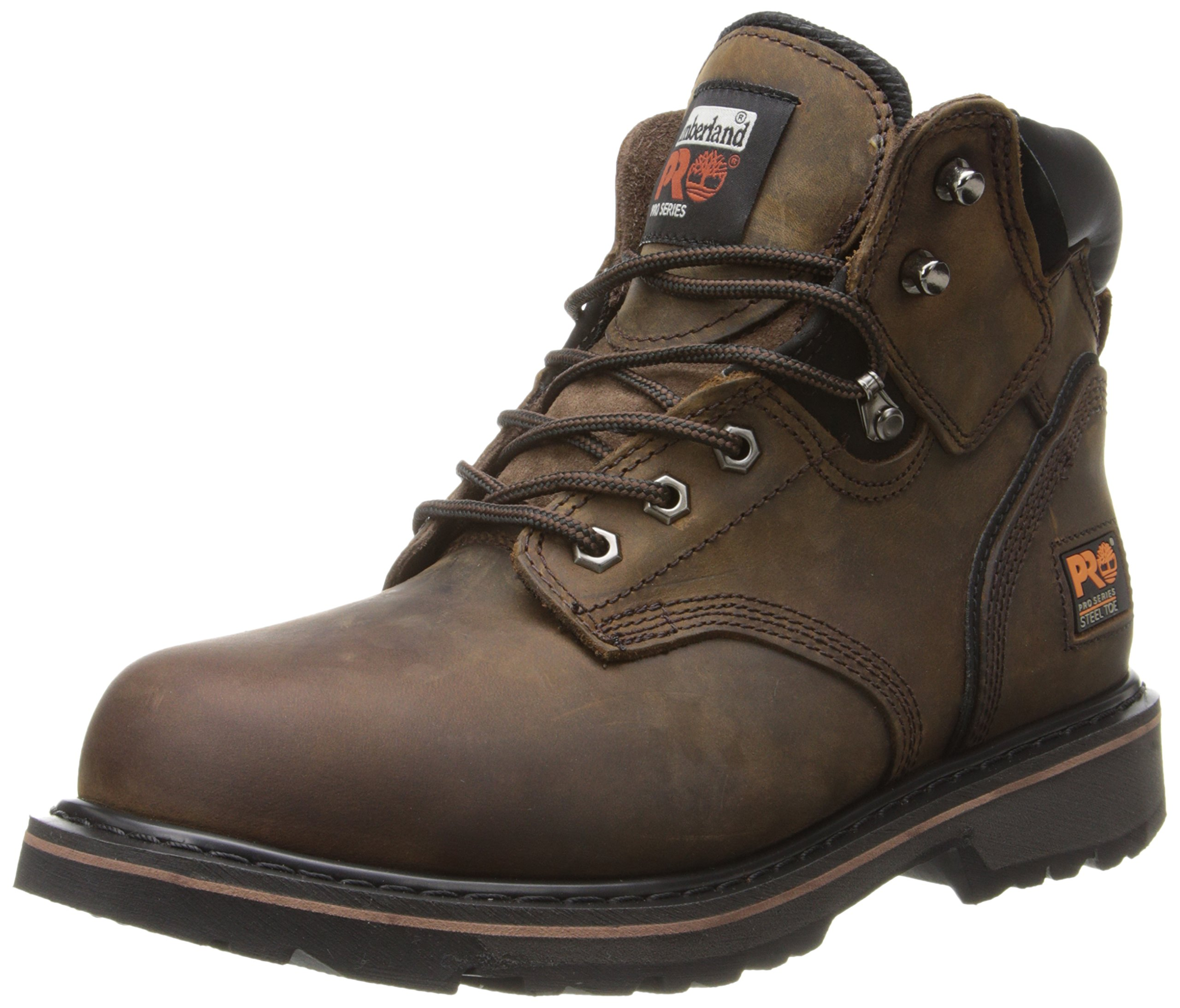 Timberland PRO Men's Pitboss 6'' Steel-Toe Boot, Brown , 9.5 EE - Wide