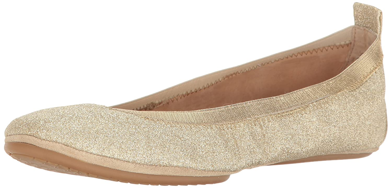 Yosi Samra Damen Samara Glitter Flat W Geschlossene Ballerinas Gold
