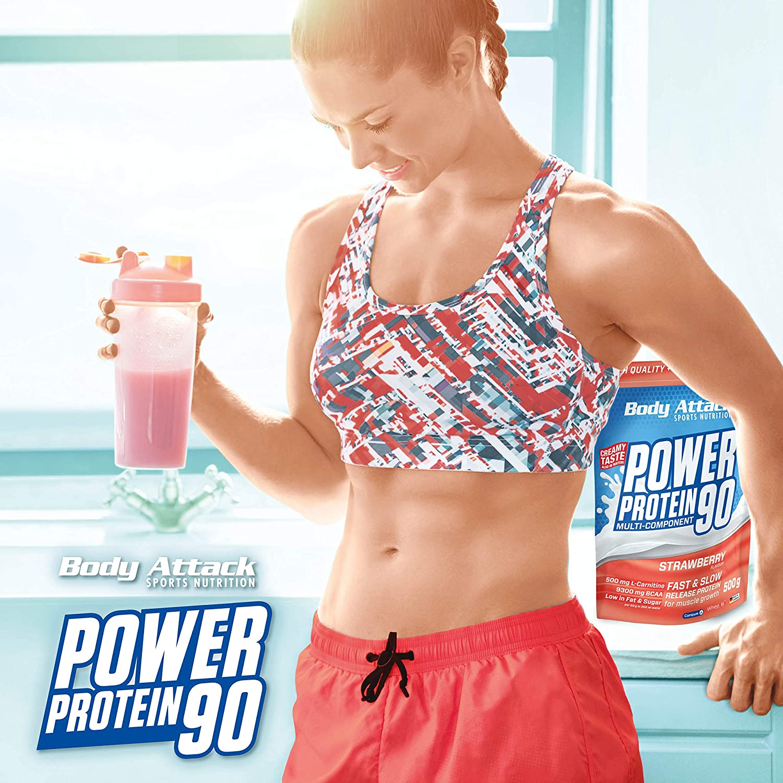 Body Attack - Proteína poder agitar 90 1 kg, Avellana