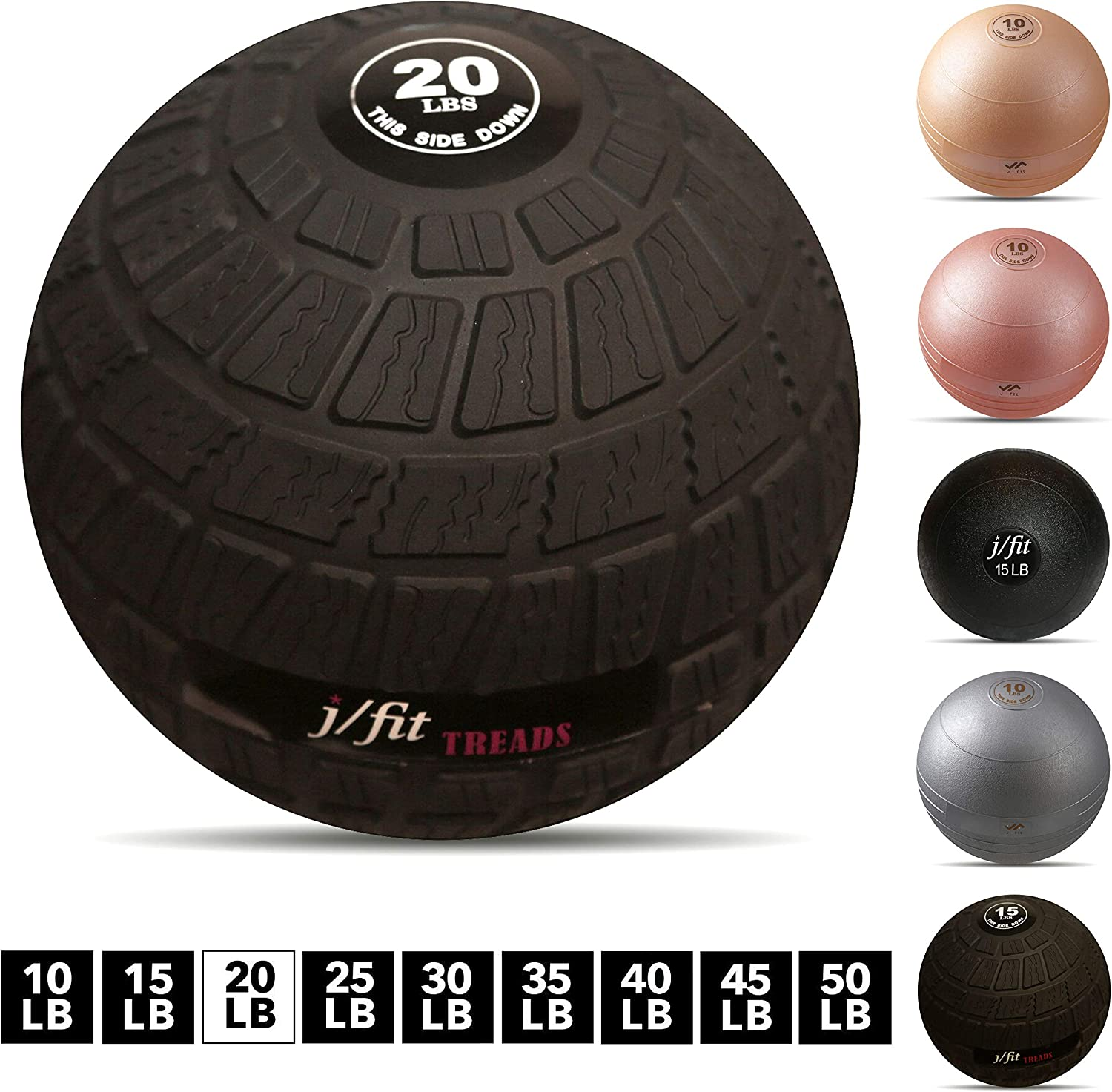 j//fit Dead Weight Slam Ball for Strength /& Conditioning WODs Available in Many Weights and Styles Plyometric and Core Training and Cardio Workouts