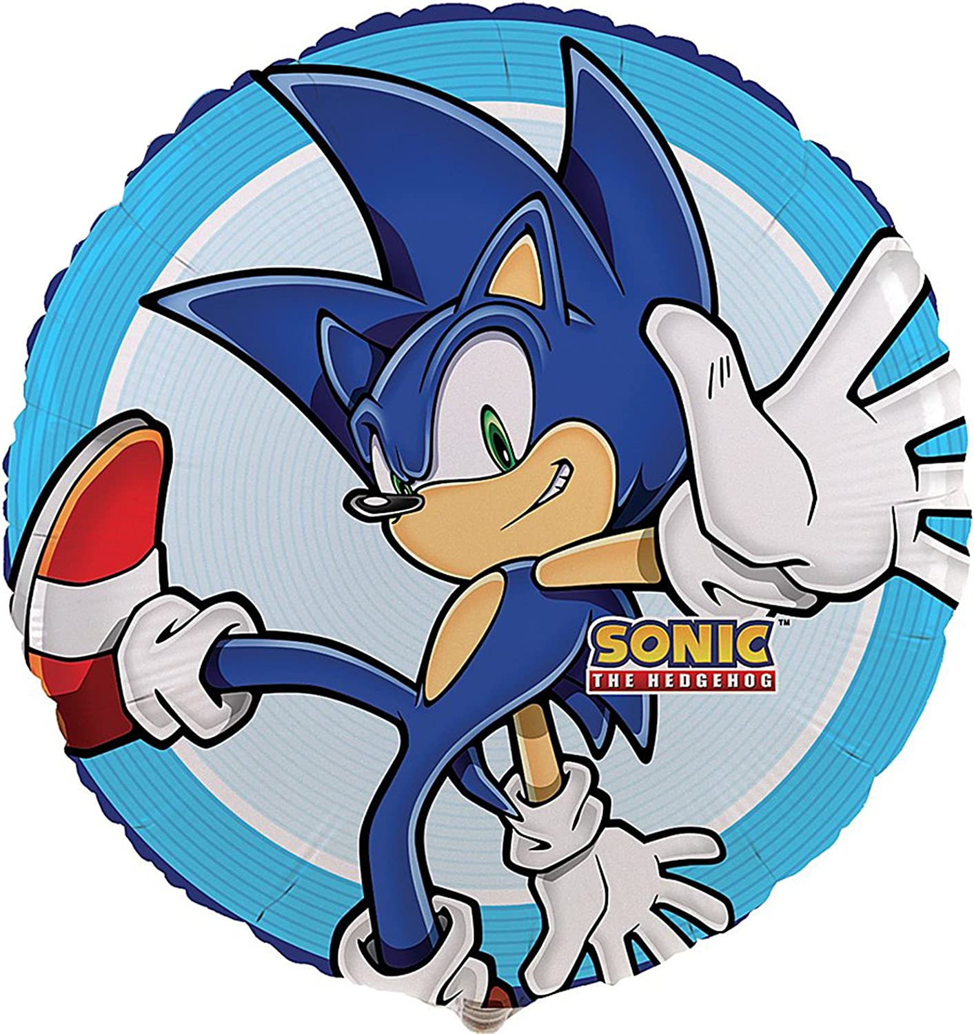 Amazon Com Sonic The Hedgehog Birthday Party Supplies 2 Pack Foil Balloons Toys Games