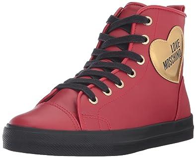 Moschino Montantes Femme W Rouge sneakersBaskets Love POXwlZuTki