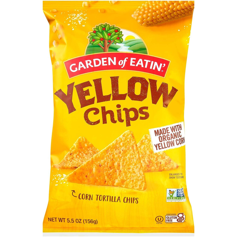 Garden of Eatin' Tortilla Chips, Sea Salt, Yellow Corn, 5.5 oz (Pack of 12)