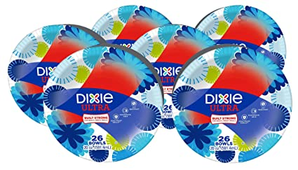 Dixie Ultra Paper Bowls 20 Ounces 156 Count (6 Packs of 26 Bowls  sc 1 st  Amazon.com & Amazon.com: Dixie Ultra Paper Bowls 20 Ounces 156 Count (6 Packs ...