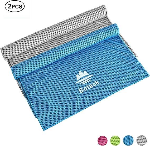 2 x Kühlendes Handtuch Kühlhandtuch Yogahandtuch Sporthandtuch Kühltücher rot