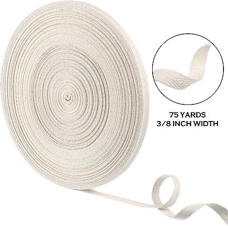 Cinta de sarga de algodón suave natural cinta de sarga de espiga cinta de costura de sarga para manualidades, color beige: Amazon.es: Hogar