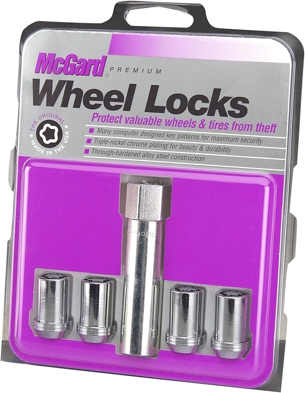 McGard 27191 Chrome Tuner Bolt Style Cone Seat Wheel Locks Set of 4 M12 x 1.5 Thread Size