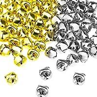 YINETTECH - 200 cascabeles de metal chapados en