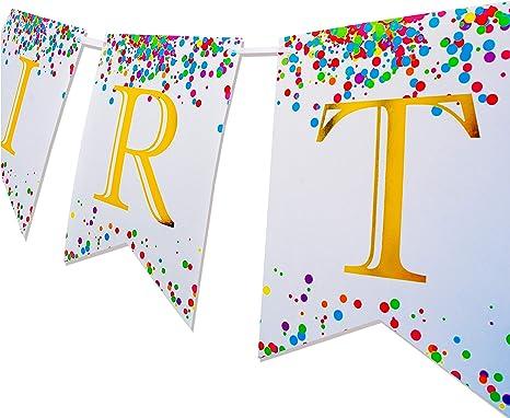 Amazon.com: Keira Prince Happy Birthday Banner, Multicolored ...